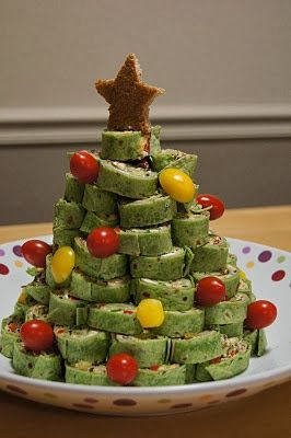 Hope In Every Season 10 Festive Christmas Party Finger Food Recipes LOVE This Tree Made Of Pinwheels