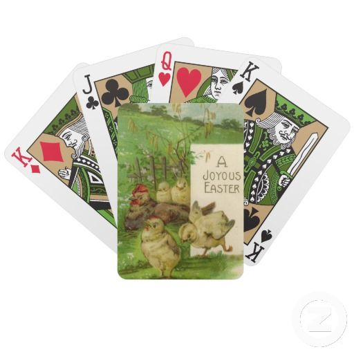 Vintage easter chick bicycle playing cards easter gifts vintage easter chick bicycle playing cards negle Choice Image