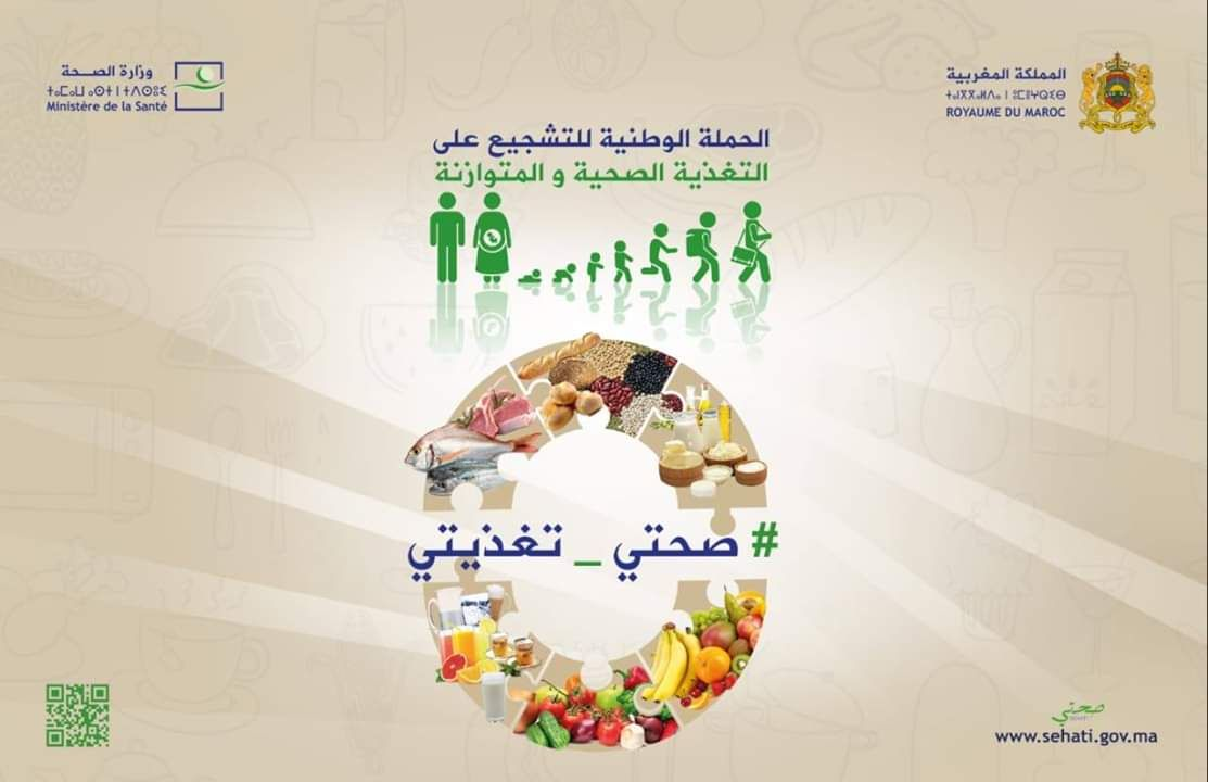 الحملة الوطنية للتشجيع على التغذية الصحي ة والمتوازنة تحت شعار صحتي تغذيتي Map Pincode