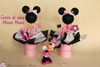 Cumpleaños infantiles DIY: centros de mesa de Minnie Mouse