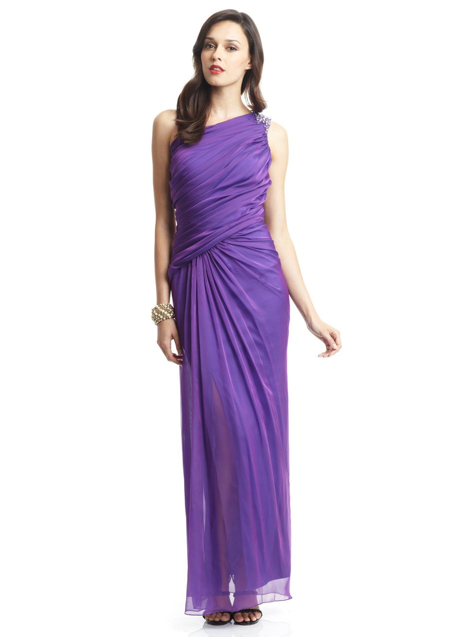 TADASHI SHOJI One-Shoulder Gathered Waist Gown   Dresses, 1 Shoulder ...