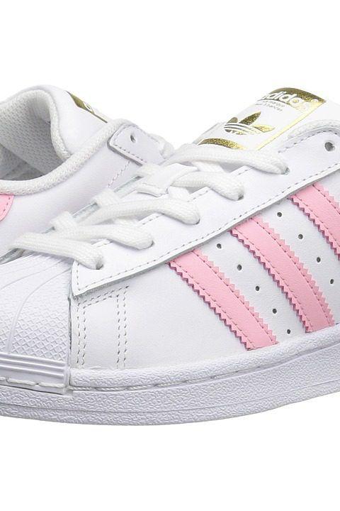adidas Originals Kids Superstar (Big Kid) (White/Pink) Girls Shoes ...