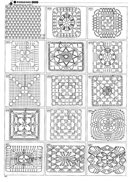 Ideas para el hogar: 2180 Puntos para tejer | Tejido crochet ...