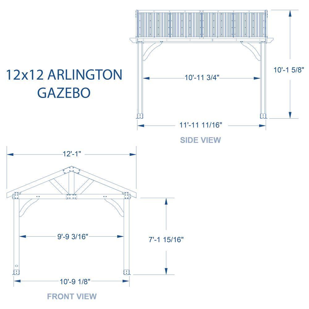 Backyard Discovery Arlington 12 ft. x 12 ft. Wooden Gazebo ... on Backyard Discovery Pavilion id=46965