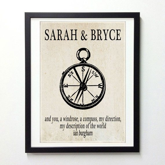 Vintage Wedding Gifts: Personalized Wedding / Anniversary Gift