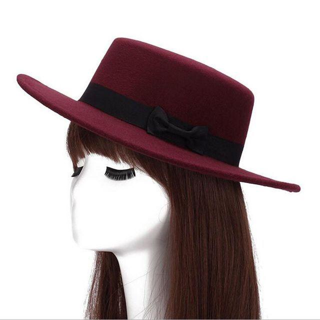 d3cef082077 2016 Autumn Winter Mens Hats Fedoras Vintage Women Girls Felt Fedoras Flat  Top Jazz Hat Church Hats Bucket Hat Chapeau  HatsForWomenBowler
