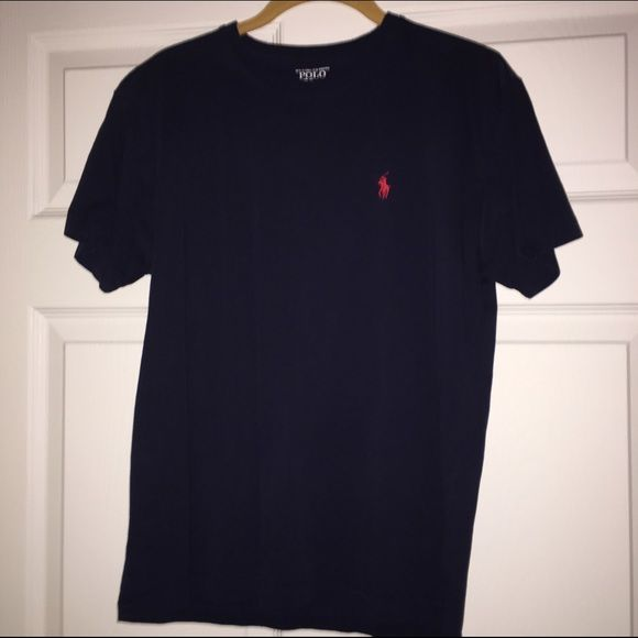 Polo Short Sleeve Tee Navy polo tee with red polo sign, size S. Polo by Ralph Lauren Tops Tees - Short Sleeve