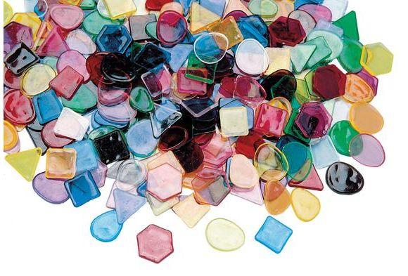 Large translucent mosaic craft tiles 1 lb for Craft mosaic tiles bulk