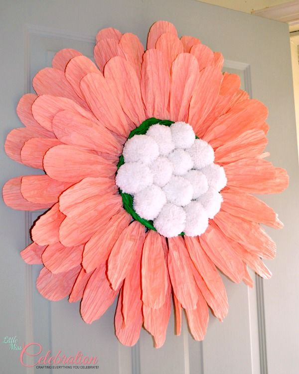 Diy big paper twist door flower share your craft pinterest diy big paper twist door flower get the how to at littlemisscelebration cindyeikenberg mightylinksfo