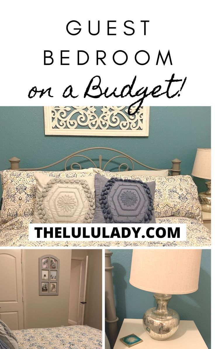 How to transform furniture without having to buy new and decorate a guest bedroom! #bedroom #potterybarn #guestbedroom #homedecor #chalkpaint
