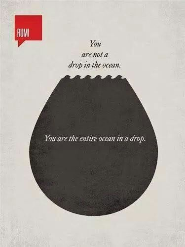 You are the Ocean in a drop...