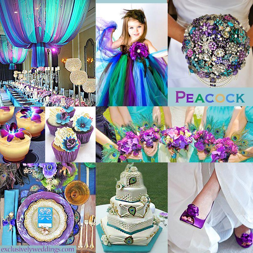 Peacock wedding colors