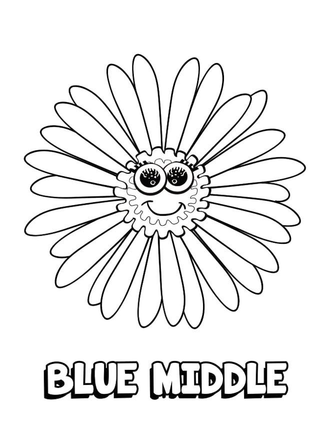 Daisy Girl Scout Blue Promise Center Coloring Page | Girl Scouts ...