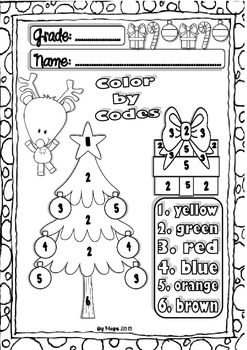 Christmas ELA and Maths Freebie for little kids (10 pages