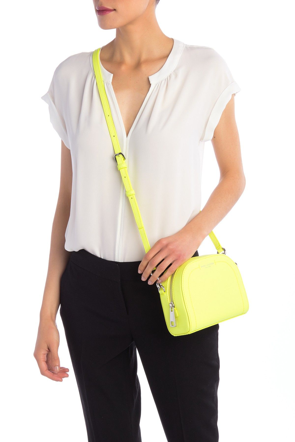 e69a881902b7 Image of Marc Jacobs Playback Leather Crossbody Bag