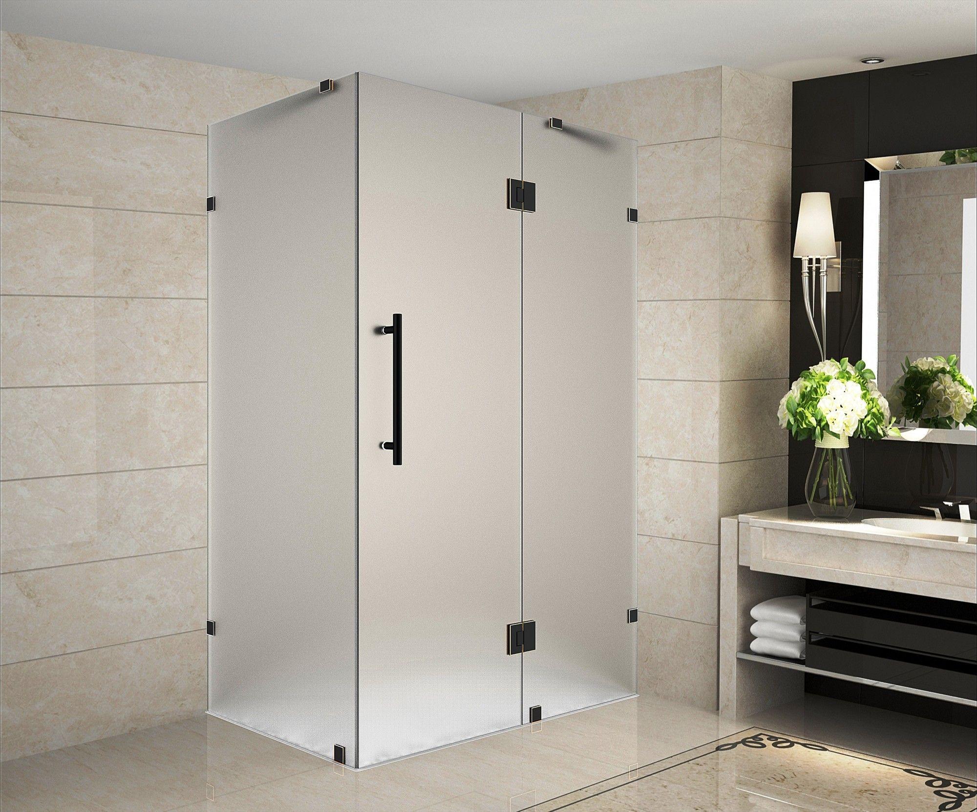 Avalux 32 X 72 Square Hinged Shower Enclosure Shower Enclosure