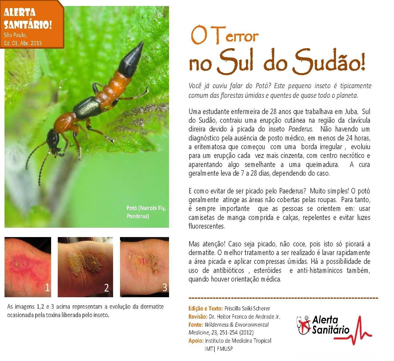 Alerta Sanitário - Paederus