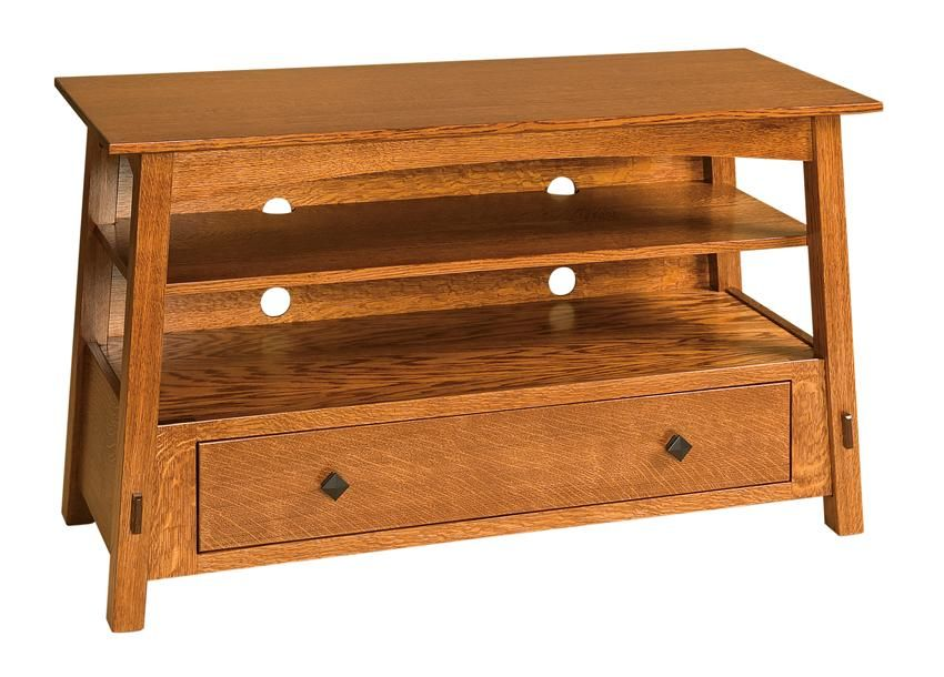 Amish McCoy Mission TV Stand With Drawer | Amish TV Stands and ...