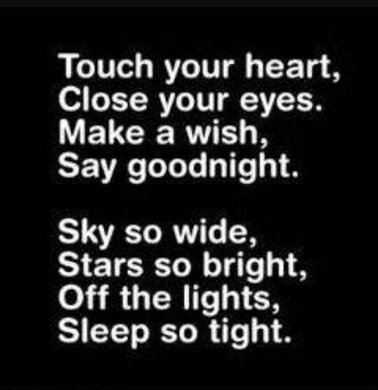 with my night light I say goodnight #