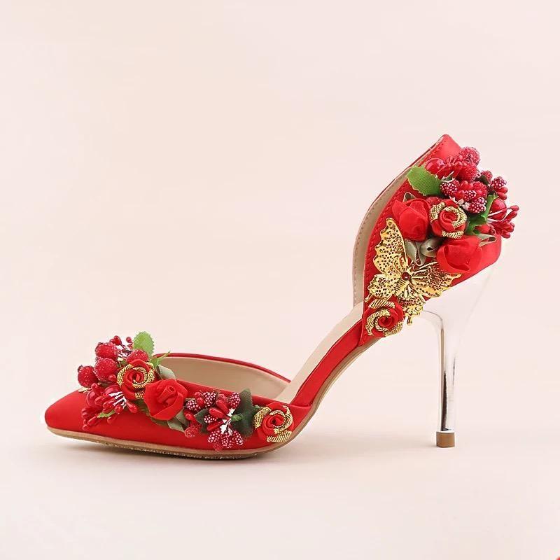 44++ Red wedding heels for bride info