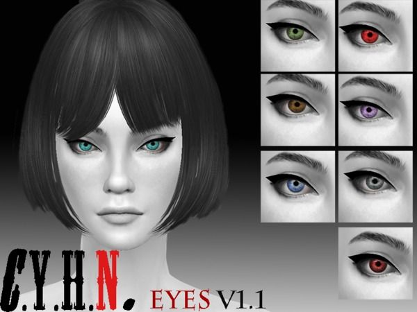 The Sims Resource: C.Y.H.N. Eyes V1.1 by Chung Yan Hei • Sims 4 Downloads