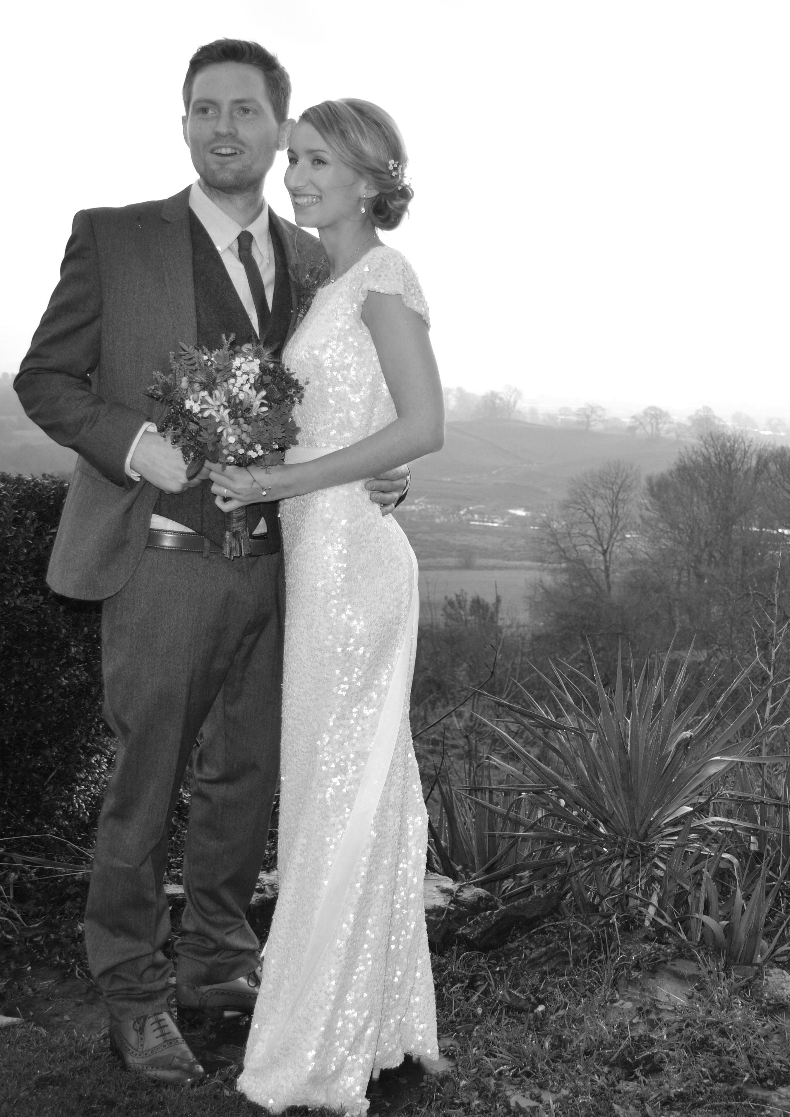 Wedding dress suit  Tweed suit Backless sequin wedding dress  Dream Day  Pinterest