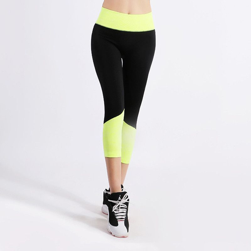 WOMEN'S YOGA PANTS Fitness Sports Cropped Tight