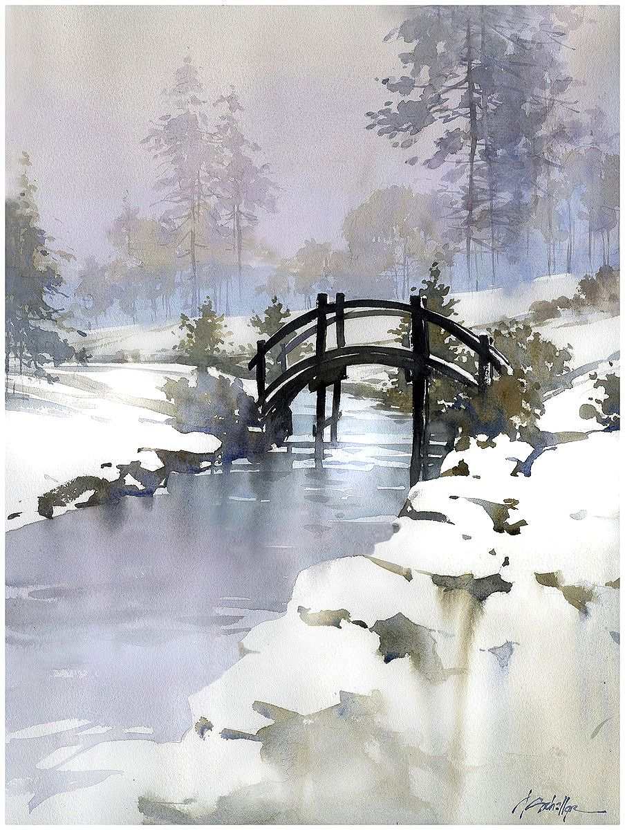 Twsa 37th Annual Exhibition Winter Landscape Watercolor