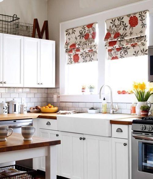 Cocinas r sticas mejor cortinas o estores 1 cortinas for Cortinas cocina rustica