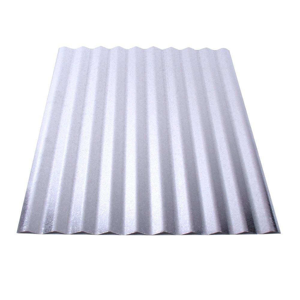 Fabral 12 Ft Galvanized Steel Roof Panel 4736008000 The Home Depot Steel Roof Panels Corrugated Metal Roof Corrugated Metal Roof Panels