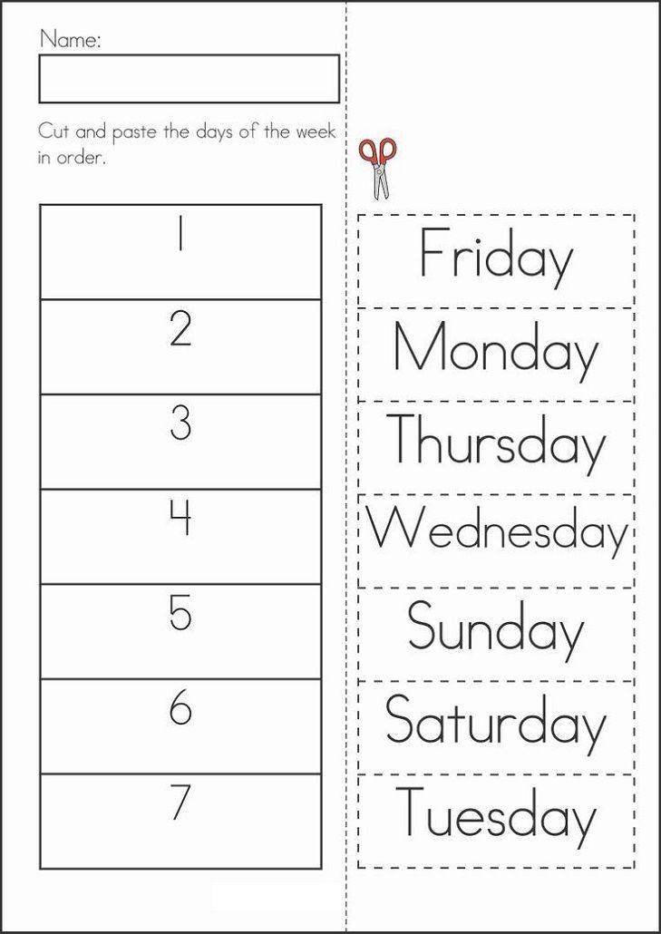 Days Of The Week Worksheets For Kids In 2020 Literacy Worksheets Summer Kindergarten School Worksheets