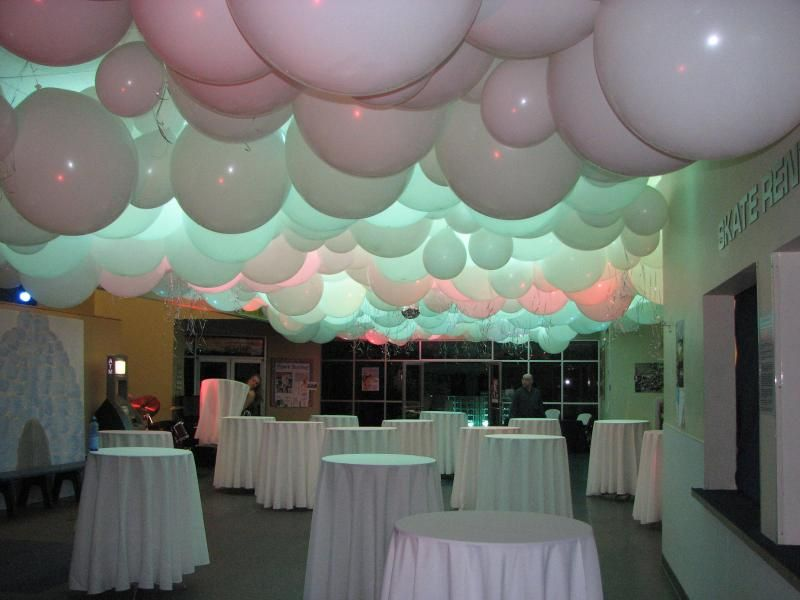 Wedding Balloons On The Ceiling We Offer Custom Decor