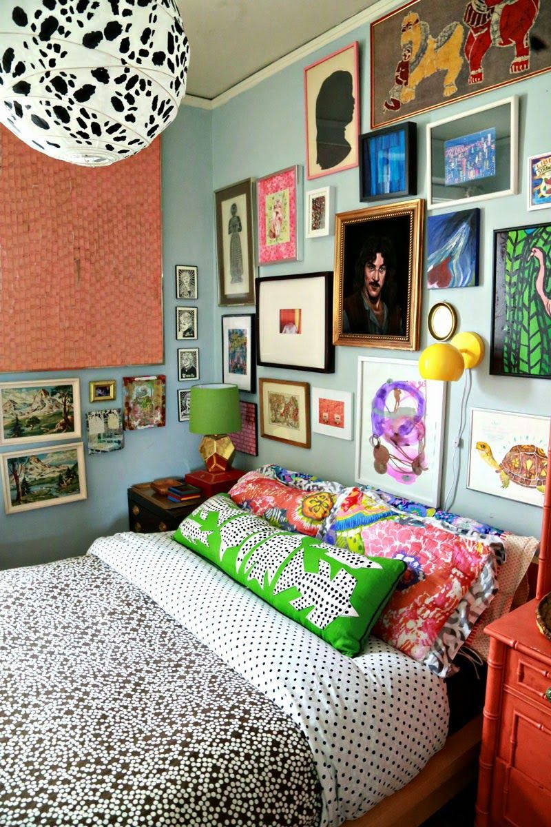 Creative And Beautiful Wall Decor Ideas For Your Bedroom Wallbedroom Smallbedroomideas Bedroomideasmaster Eclectic Bedroom Maximalist Decor Bedroom Design Eclectic bedroom wall ideas