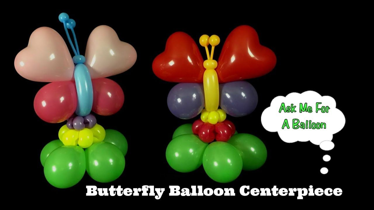 Balloon butterfly centerpiece tutorial learn how to make