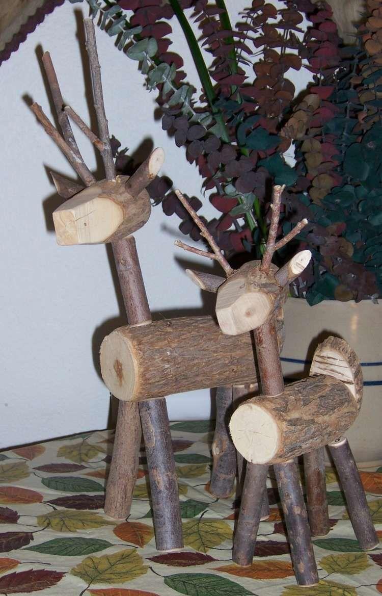 Bricolage de Noël en bois de récupération- 20 projets faciles pour ...