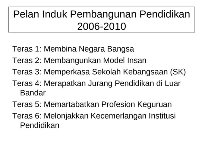 Perkembangan Sistem Pendidikan Di Malaysia Documents Malaysia Phil Documents