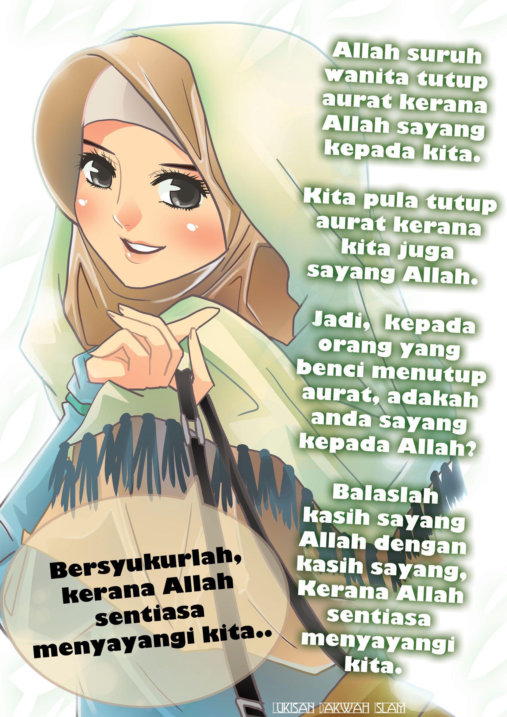Lukisan Kartun Muslimah Bercadar