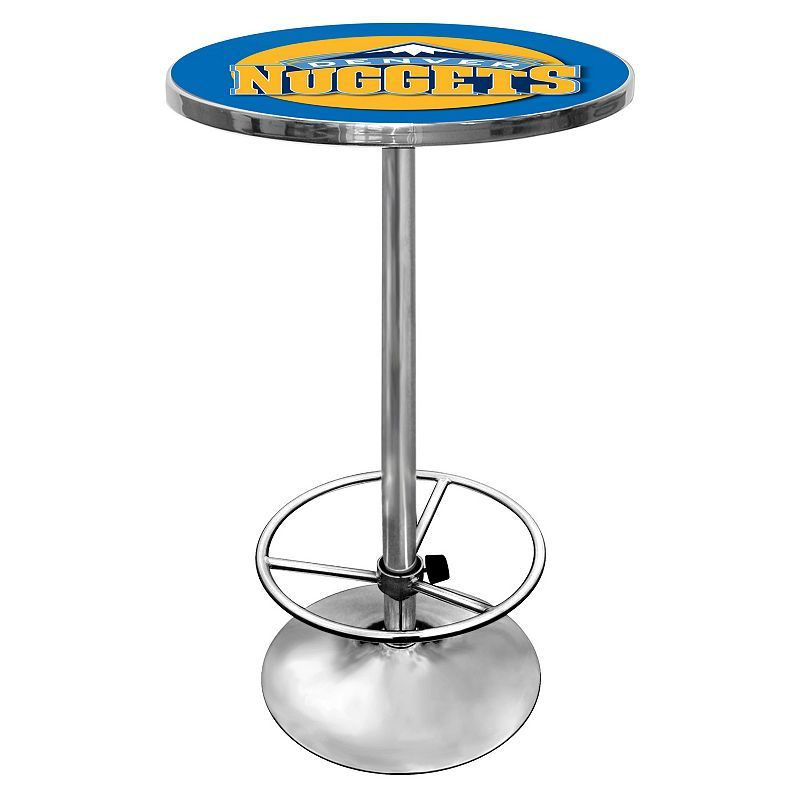 Denver Nuggets Chrome Pub Table, Multicolor