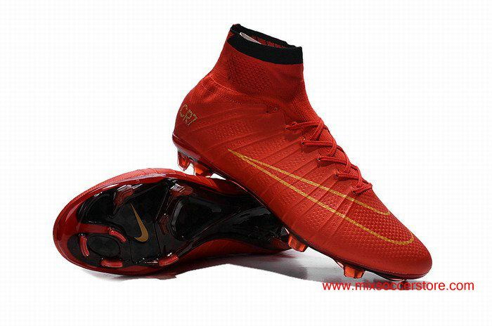 best cheap 6f76a 159f3 Nike Mercurial Superfly CR7 FG Red Golden Precious Football Boots