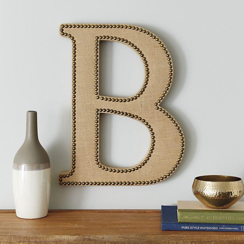 Burlap Letters   Ballard designs, Lettering