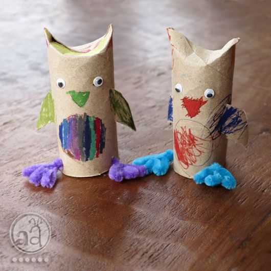kids' craft tutorial: diy owl with a recycled toilet paper roll