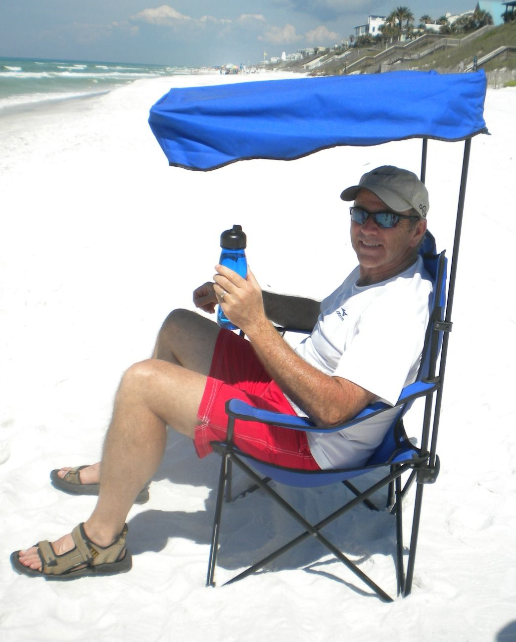 Bring A Beach Chair With Canopy For Your Own Spot Of Shade To Protect Face And Neck From The Sun
