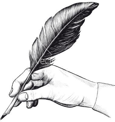 Feather Pen Vector Image On Vectorstock Pena Ilustrasi Seni