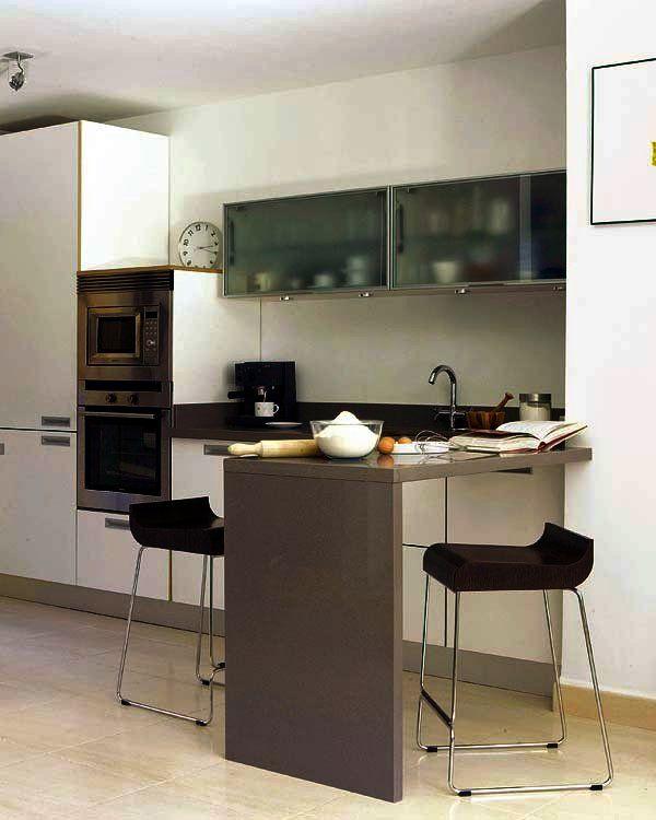 Doce cocinas con barra y sus planos interiors - Cocinas con barra ...