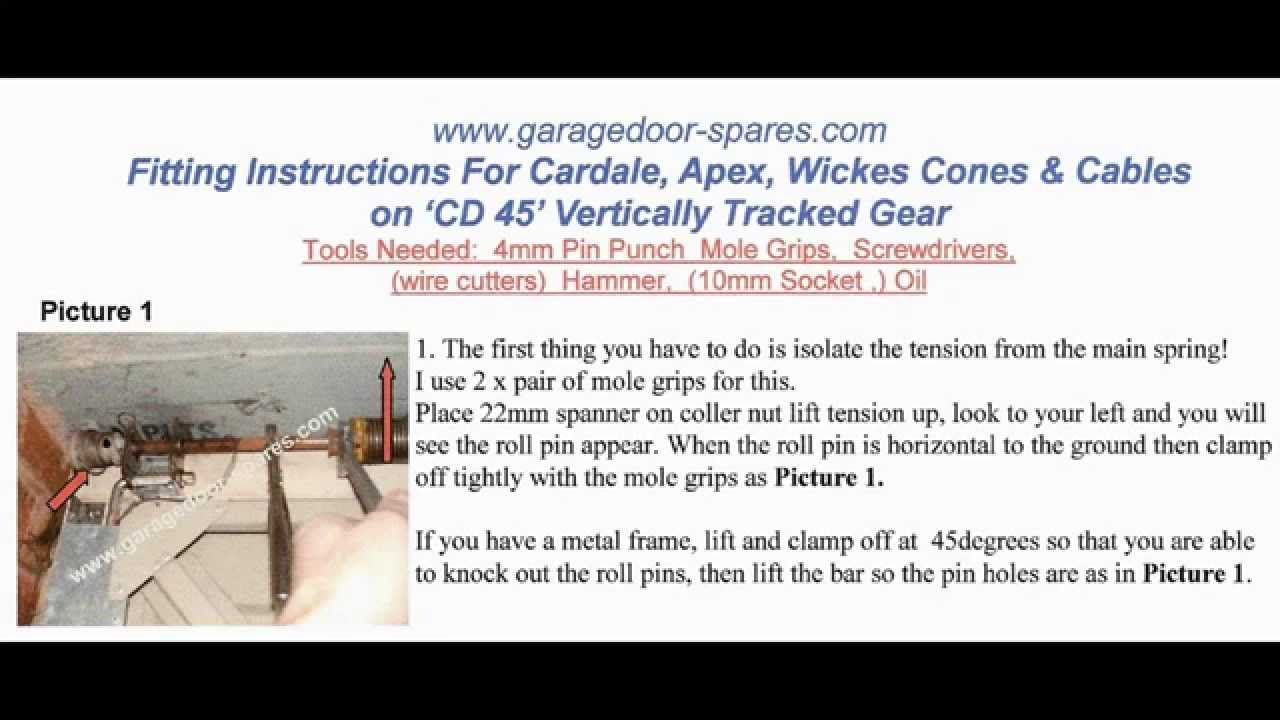 Cardale CD45 Cones and Cables Repair Garage Door Spares