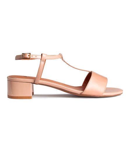 Sandaler med hæl   Pudder   Dame   H&M DK
