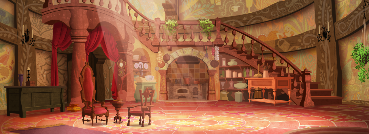 I Was So Honored To Paint The Interior Of Rapunzel S Tower For This Week S Episode Of Tangled The Series I Tried Really Hard T Rapunzel Tower Rapunzel Tangled