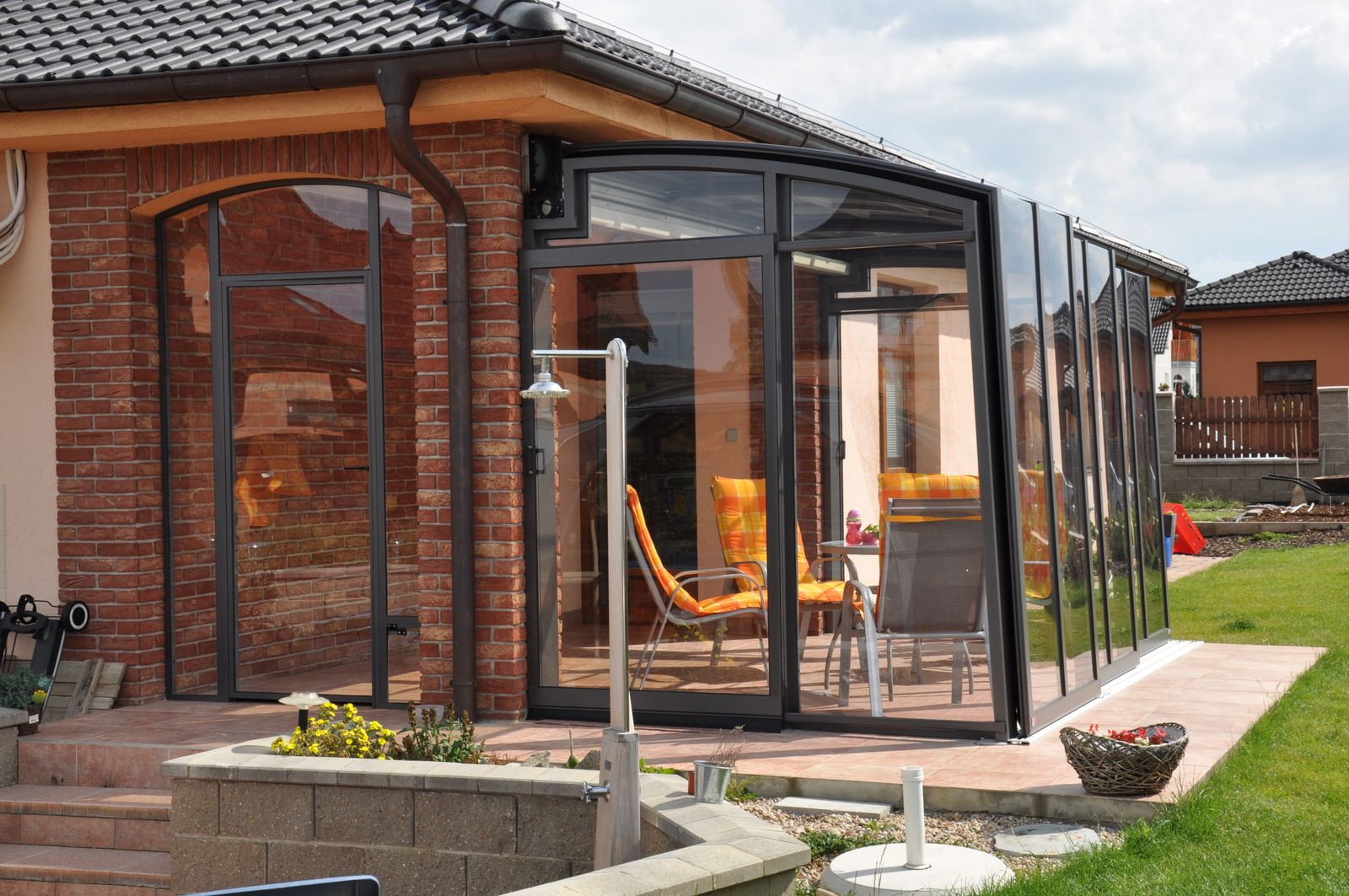 Transparent Polycarbonate And Safety Glass Panels Used On Terrace Enclosure Corso Patio Enclosures Enclosed Patio Patio