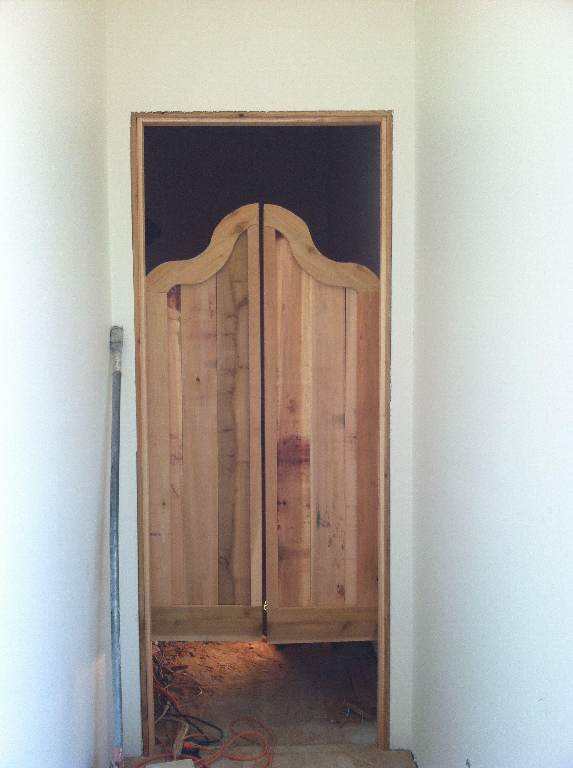 Cedar saloon doors   Construction projects   Pinterest ...