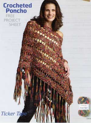 Crocheted Poncho Lm0159 Free Patterns Yarn Craft Crochet